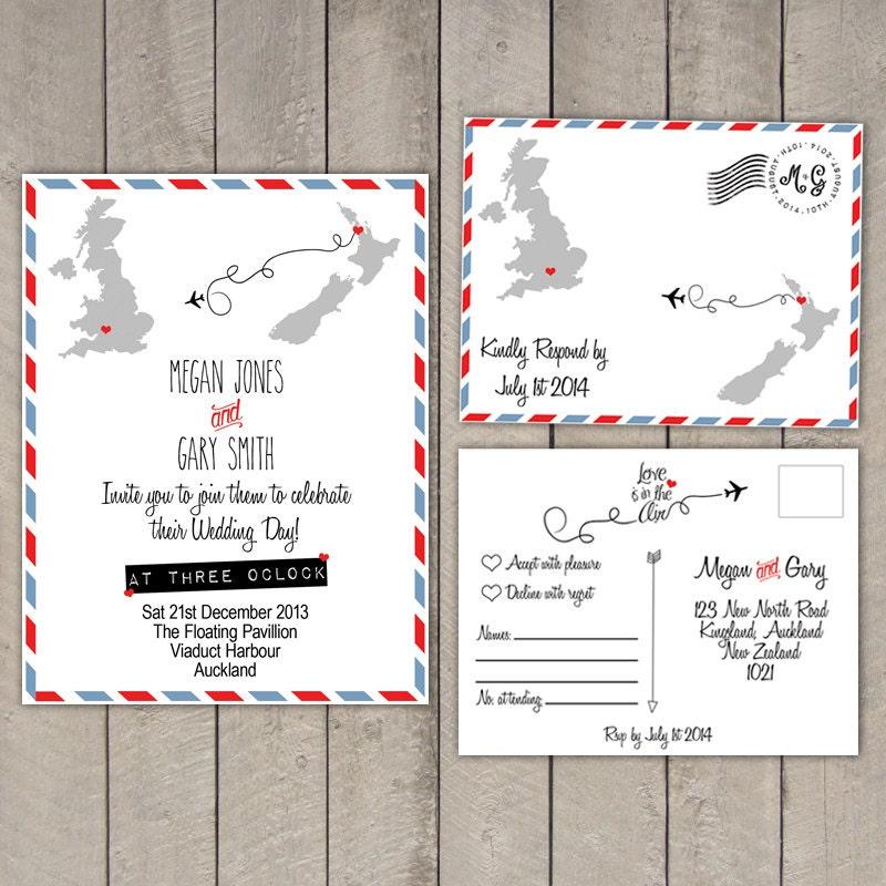 Travel Destination Wedding Invitation Amp By WeddingPlanningShop