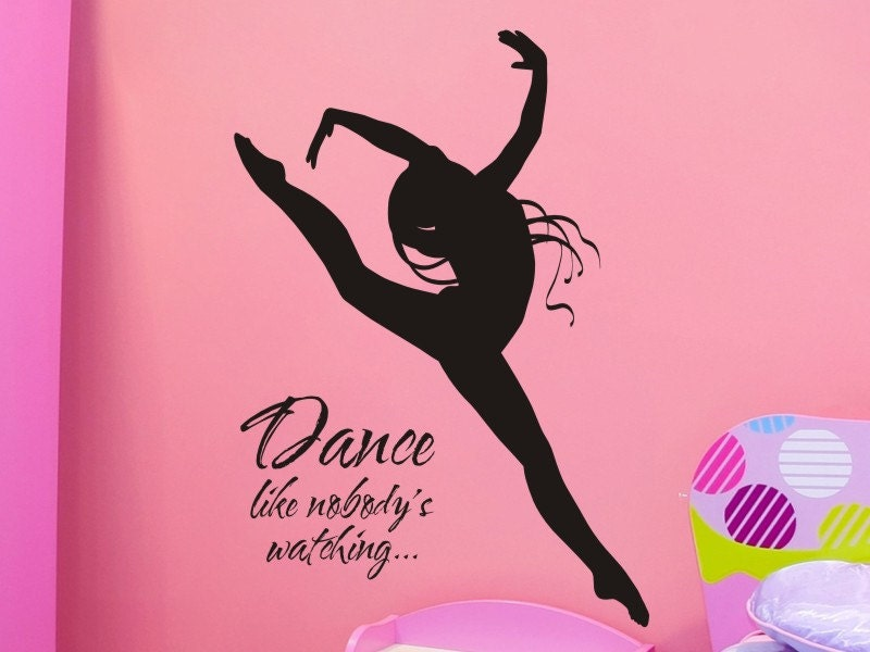 wall decal dance like nobodys watching with dancer by