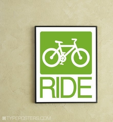 Bike Ride Digital Print - TypePosters