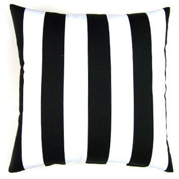 Black and White Stripe Pillow Cover - FREE SHIPPING
