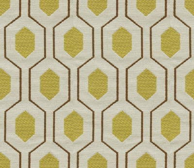 Geometric Retro Vintage Mid Century Patterned Fabric by by