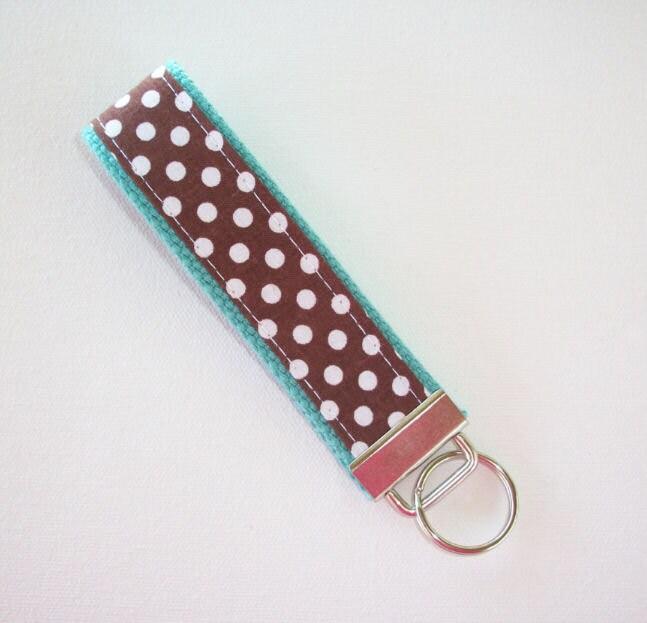 key fob / keychain / wristlet love bliss purple gift by laa766