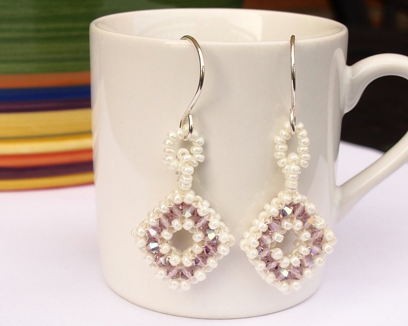 Swarovski crystal earrings, Bridal beaded jew ...
