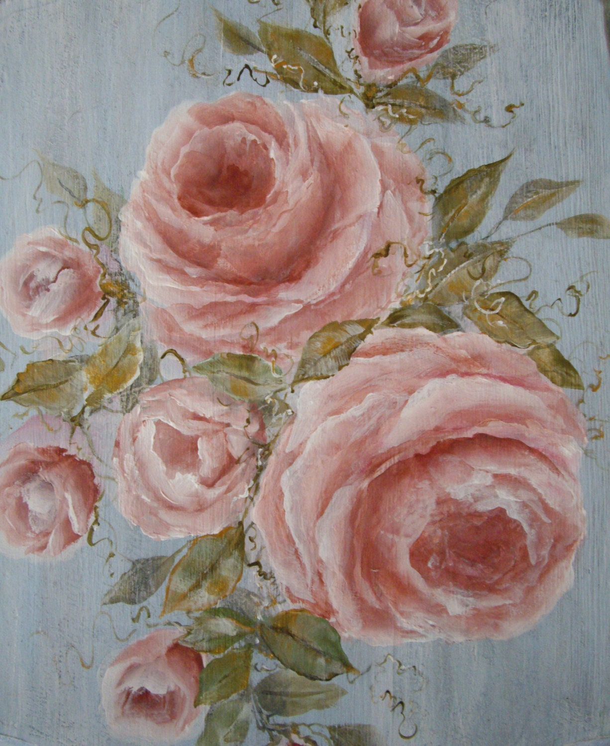 items similar to shabby chic roses photo print of original art by lydia ward on etsy. Black Bedroom Furniture Sets. Home Design Ideas