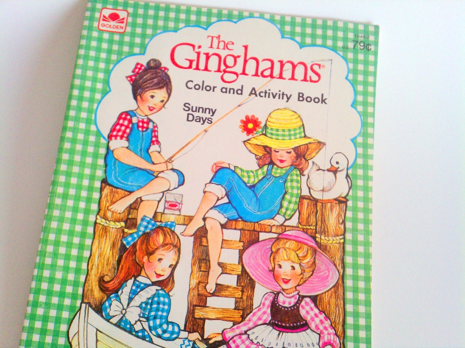 Vintage Coloring Book The Ginghams