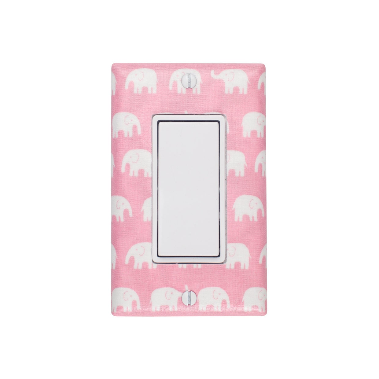 Pink Elephant Rocker Light Switch Plate Cover By Sskdesigns