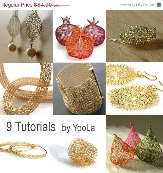 Crochet Patterns For Mother s Day : 9 Wire Crochet Patterns how to crochet wire jewelry PDF by ...