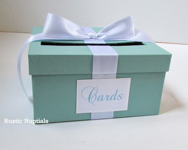 Wedding Shower Gift Card Box : ... similar to Wedding Card Box Tiffany Baby Shower Card Holder on Etsy