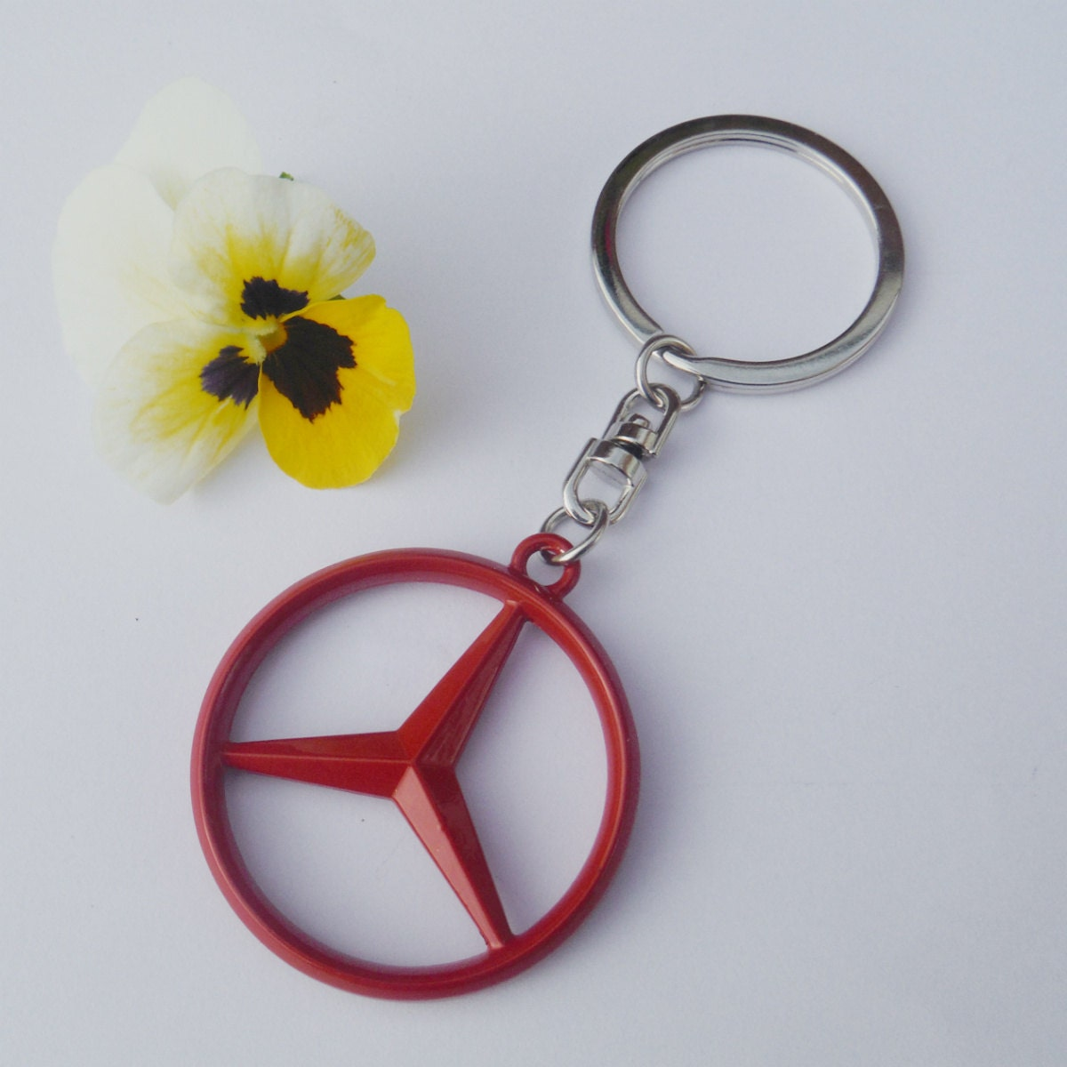 Mercedes Benz Merc Red Limited Edition Necklace Pendant Keychain Gift Set