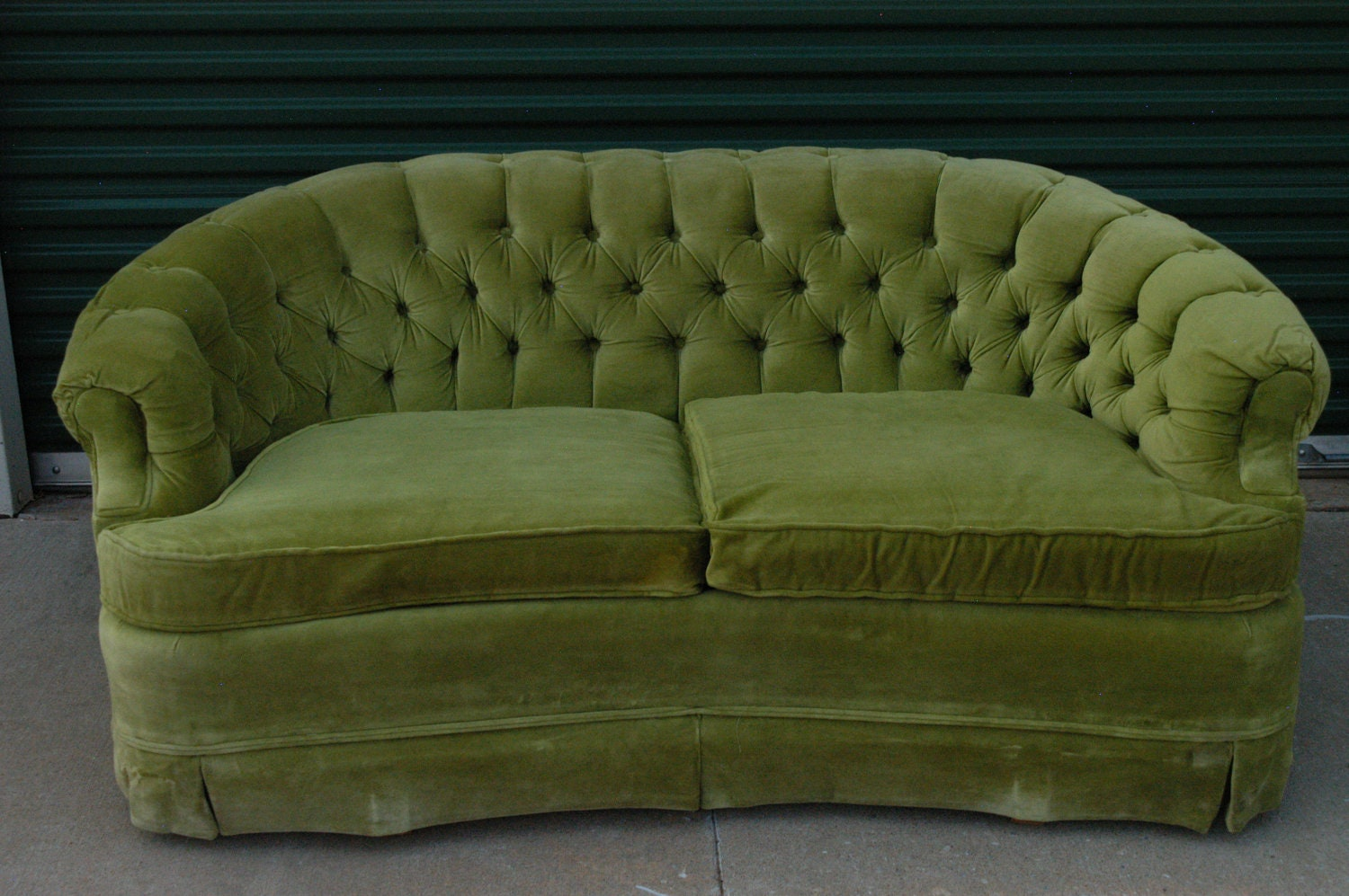 Vintage Lime Green Loveseat Sofa By By Thetravelingowlshop On Etsy