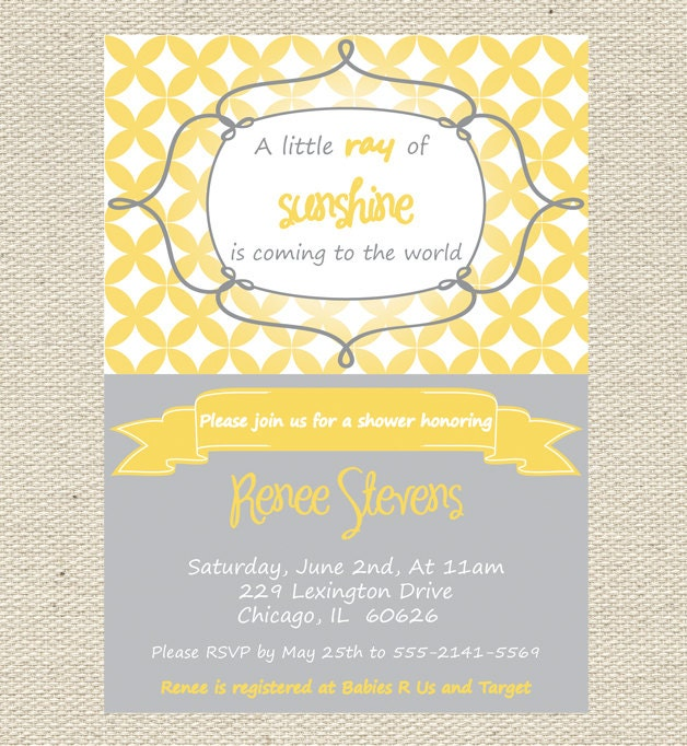 You Are My Sunshine Baby Shower Invites Is Amazing Invitations Ideas