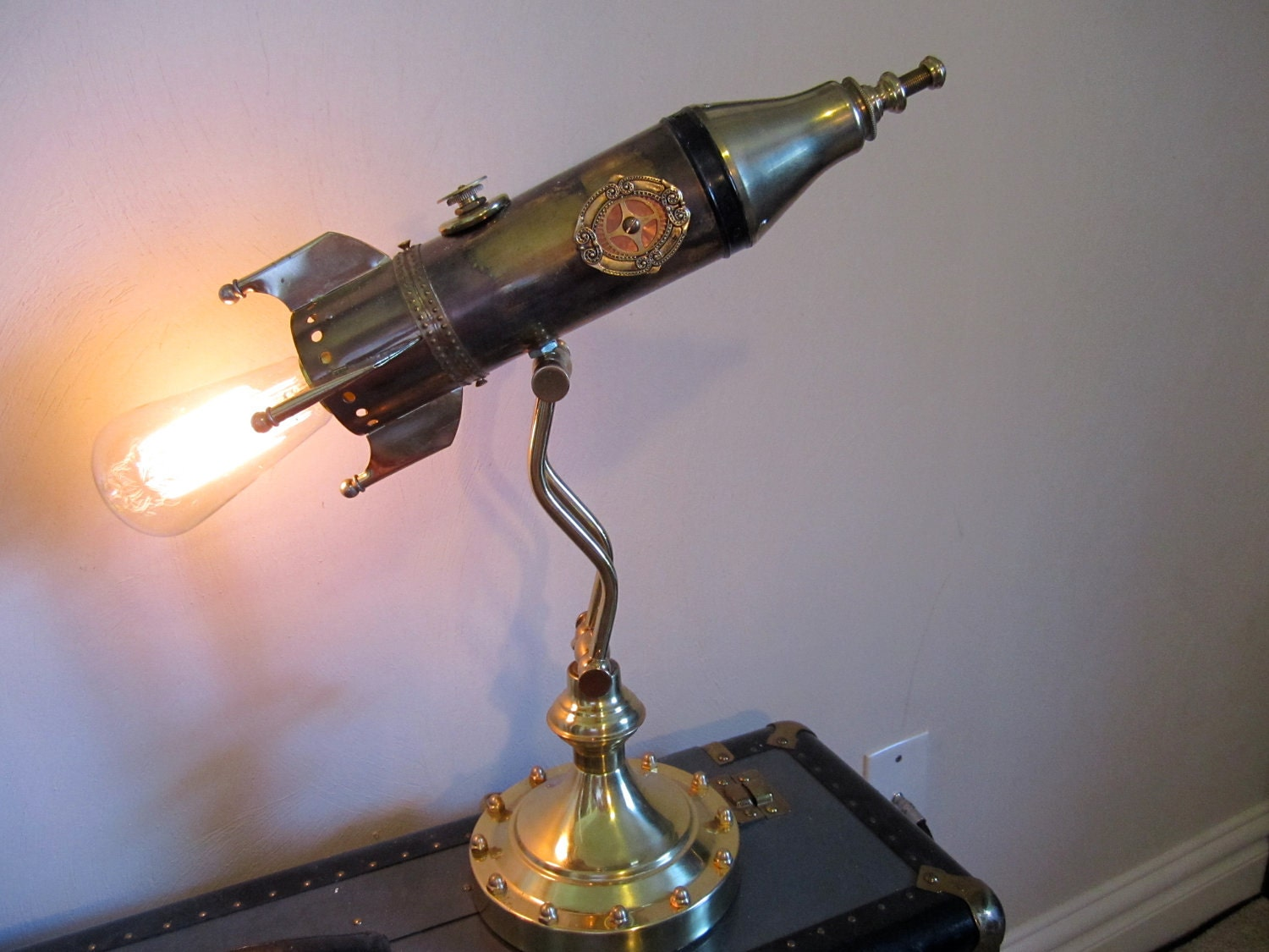 Reserved For Nancy Victorian Rocket Lamp By Woskab On Etsy