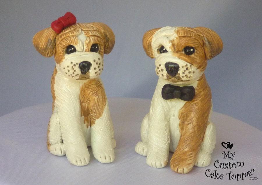 Dog Wedding Cake Toppers Bulldog From MyCustomCakeTopper