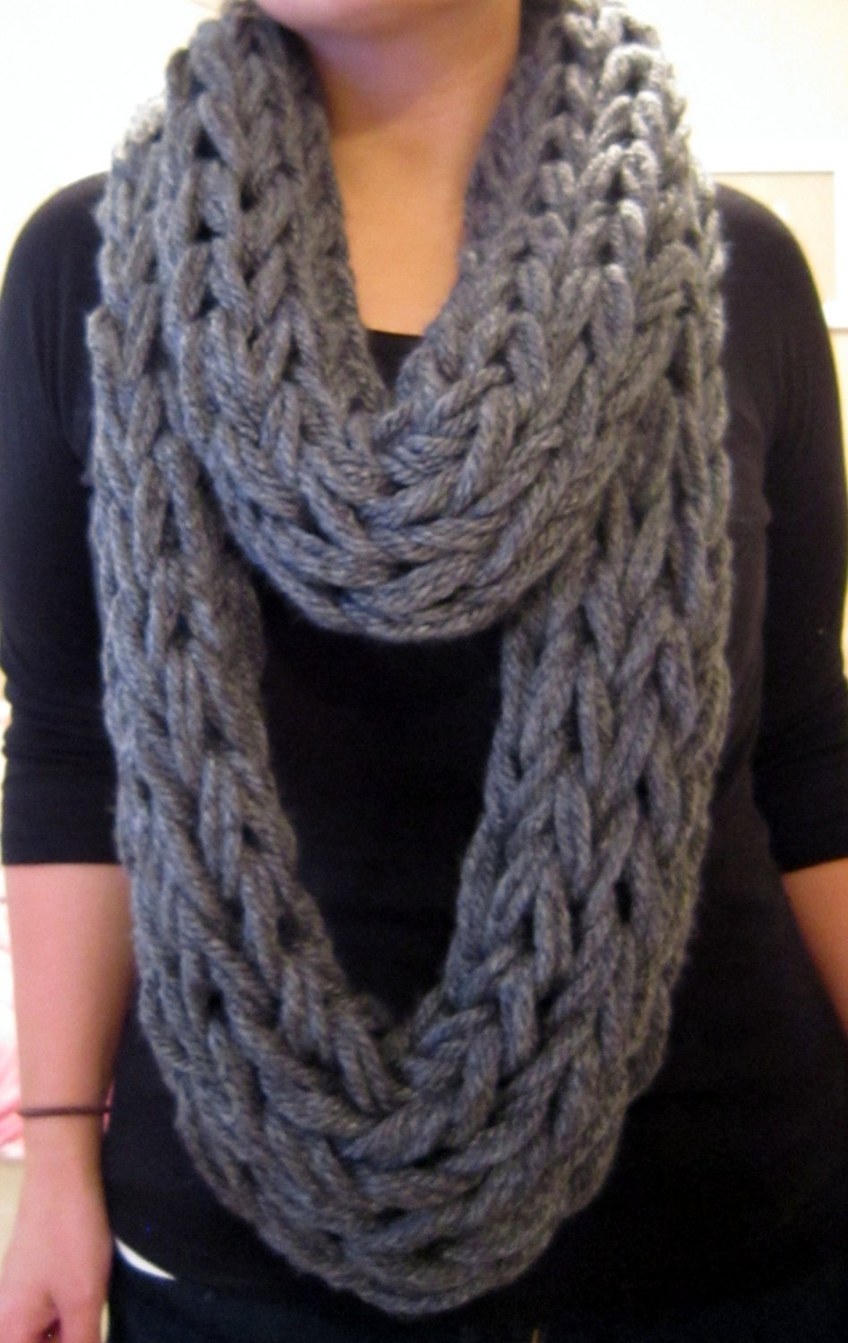 Arm Knitting Infinity Scarf : Unavailable listing on etsy
