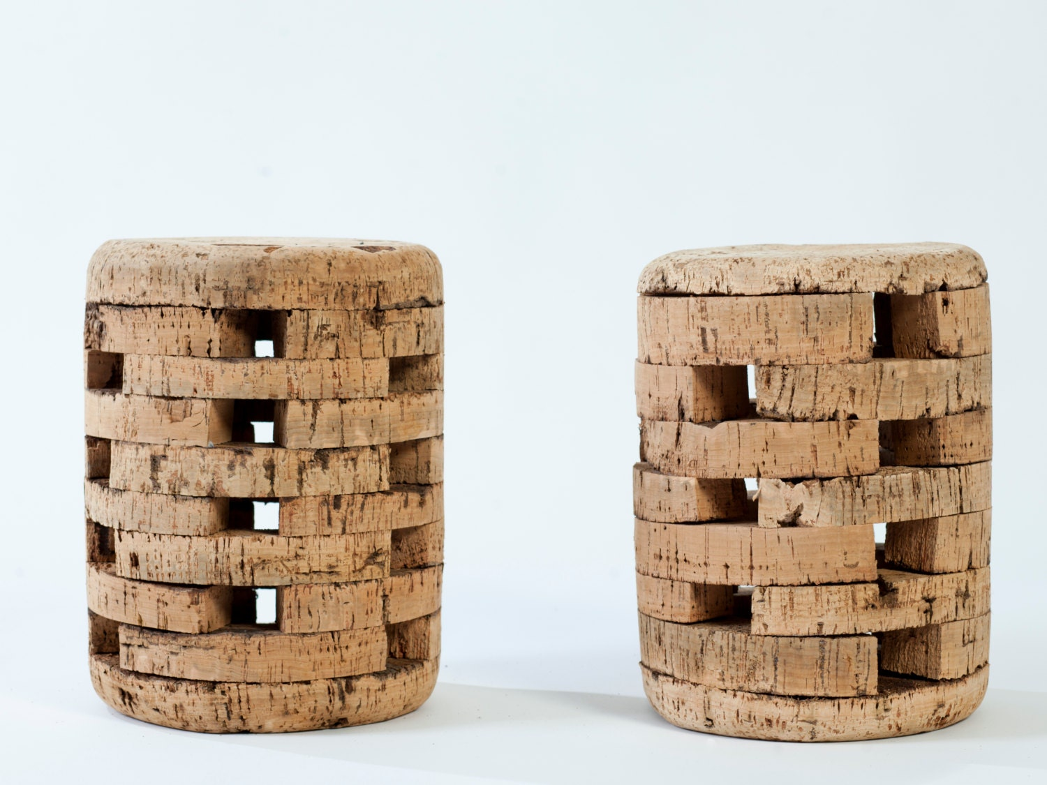 Cork stool, made of cork as the main material, asembled with has wood nail. Beautiful, light and robust. - Raihartenatural