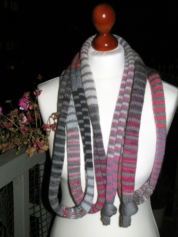 FREE SHIPPING, Summer Sale, The Grey/Pink SSScarf (the SSSnake SSSleeping Bag), OOAK, Ready to Ship,