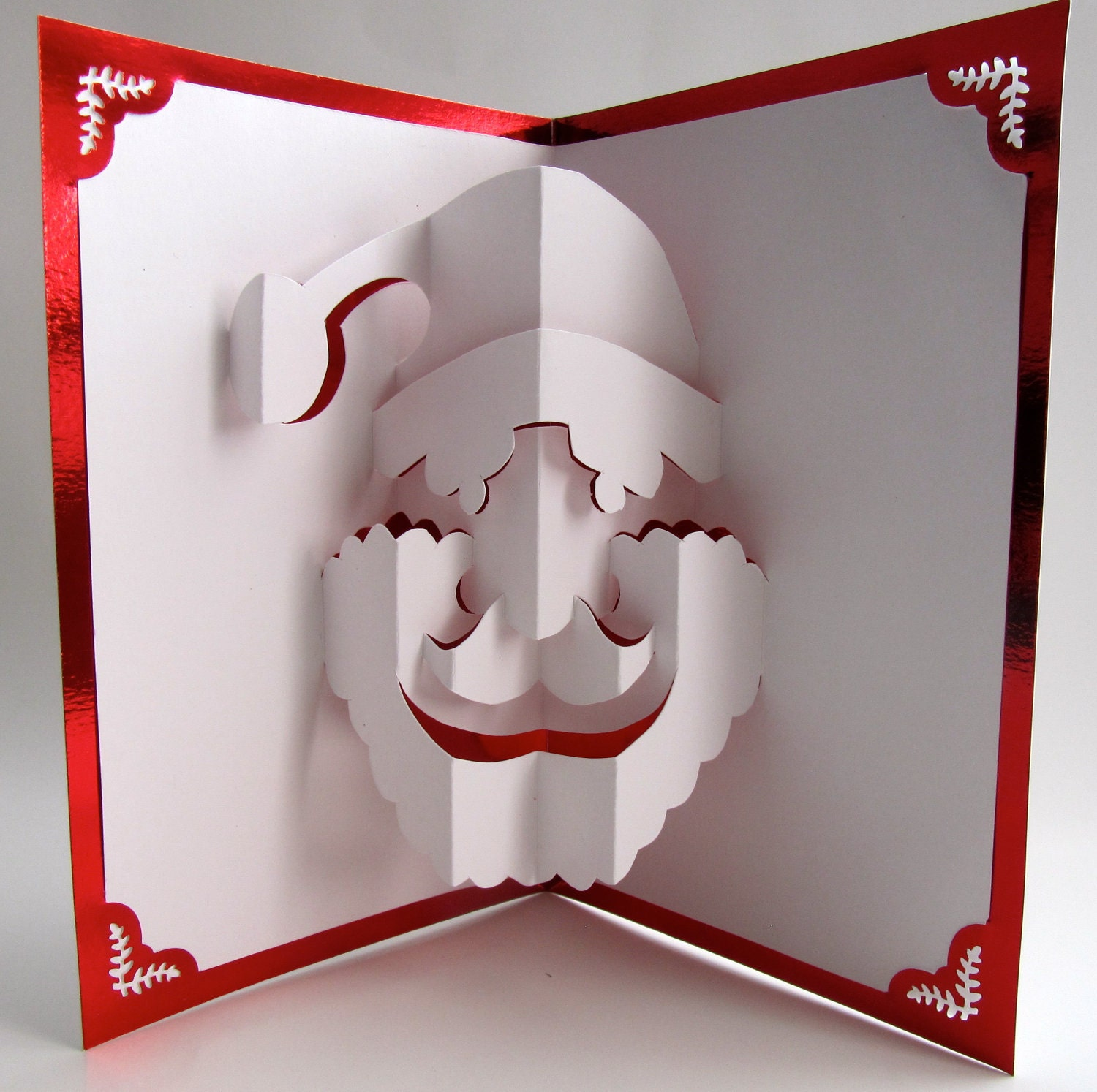 Santa claus christmas pop up card home d cor 3d by boldfolds for 3d xmas cards to make