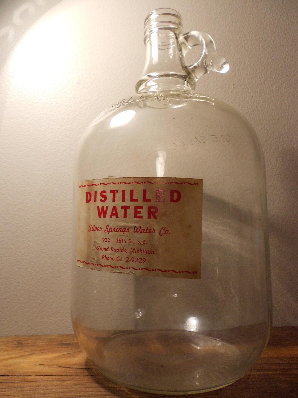 distilled water in gallon jugs