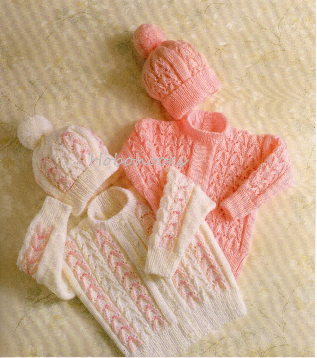 Baby Knitting Pattern Childrens Knitting Pattern cardigan sweater  hat  baby set 2026inches DK Baby Knitting Patterns PDF instant download