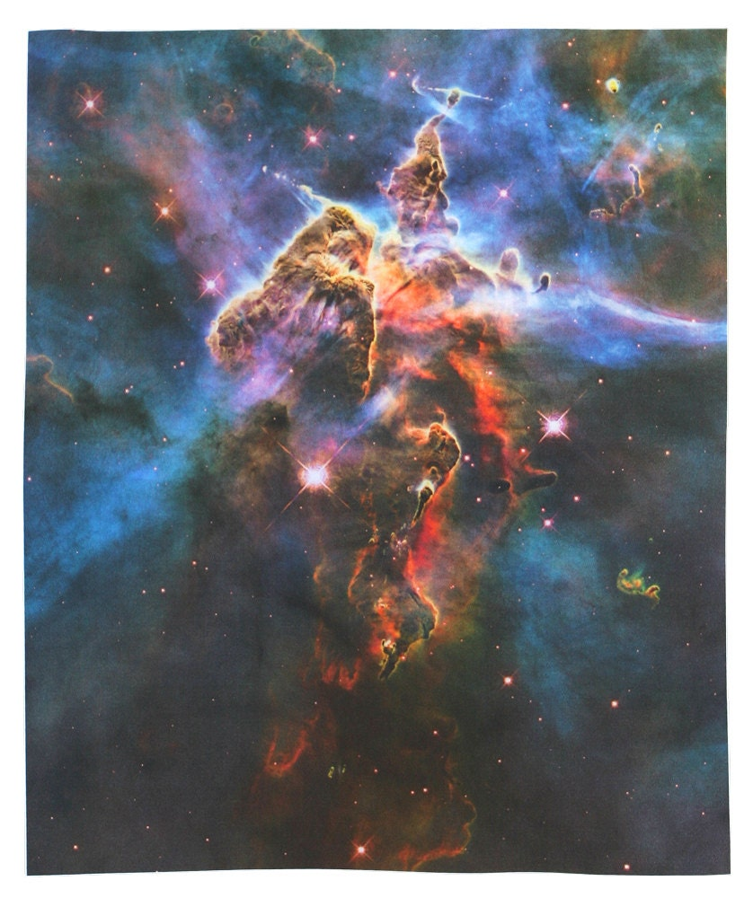 Mystic mountain hubble photograph 9 x 11 inches by for Space mountain fabric