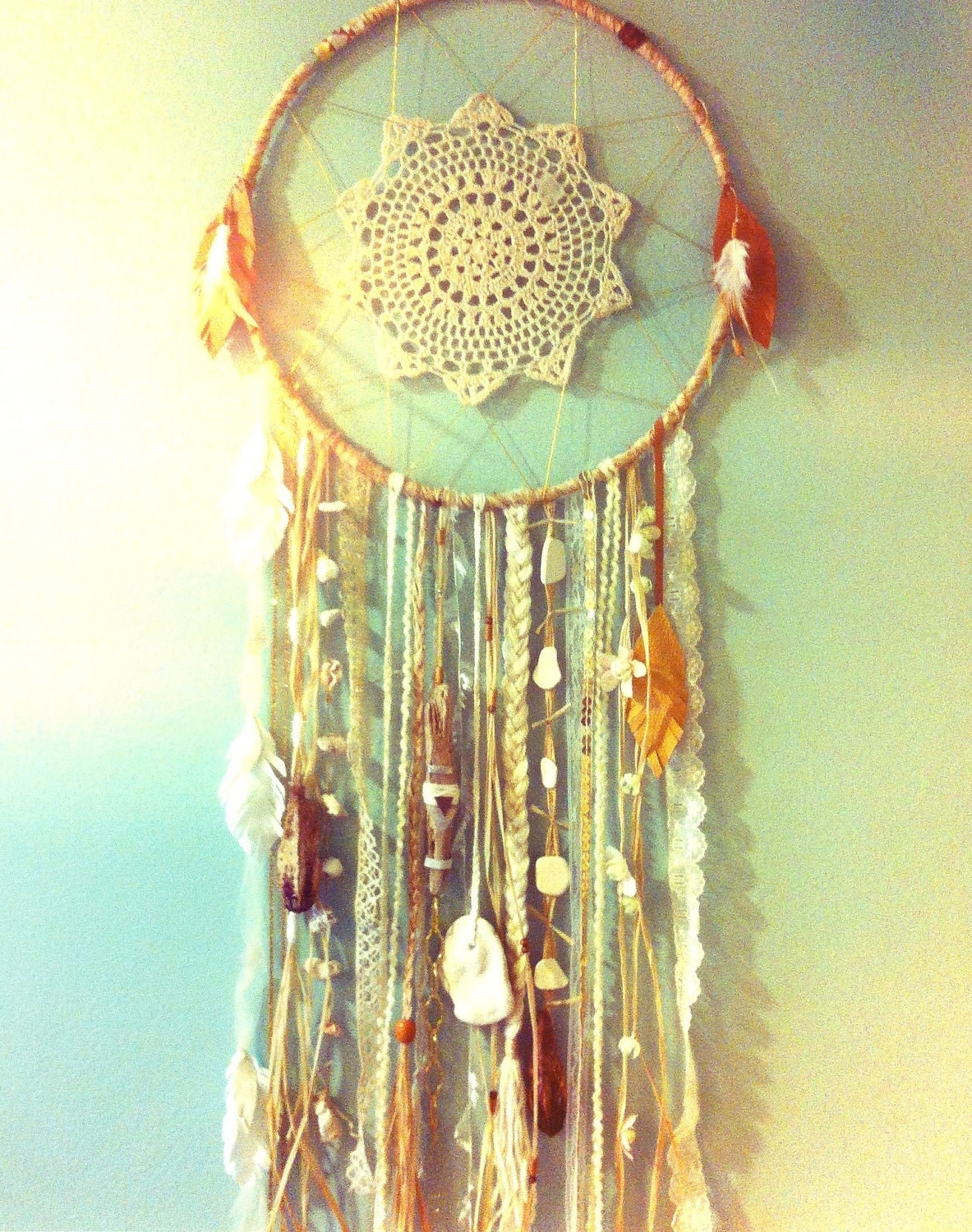CUSTOM ORDER 14 inch Sea Dreamer Mermaid Dreamcatcher similar to shown, your choice - CosmicAmerican