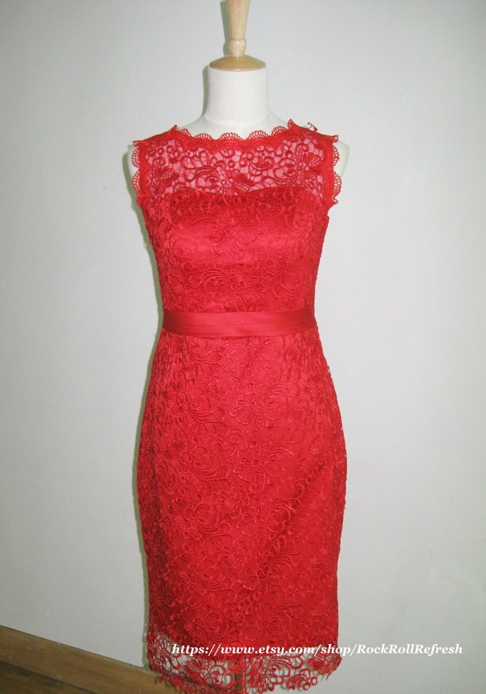 ... Your place to buy and sell all things handmade, vintage, and supplies Vintage Black And Red Bridesmaid Dresses