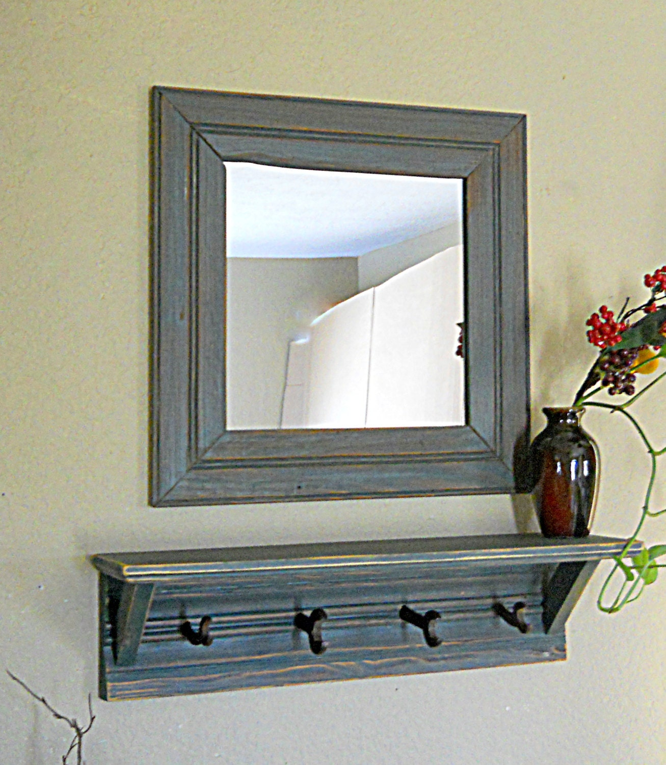 Etsy your place to buy and sell all things handmade for Hallway mirror and shelf