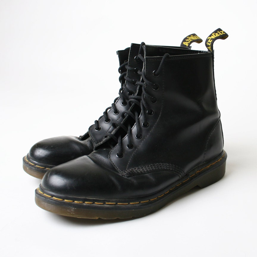 dr doc marten combat army boot vintage shoes by