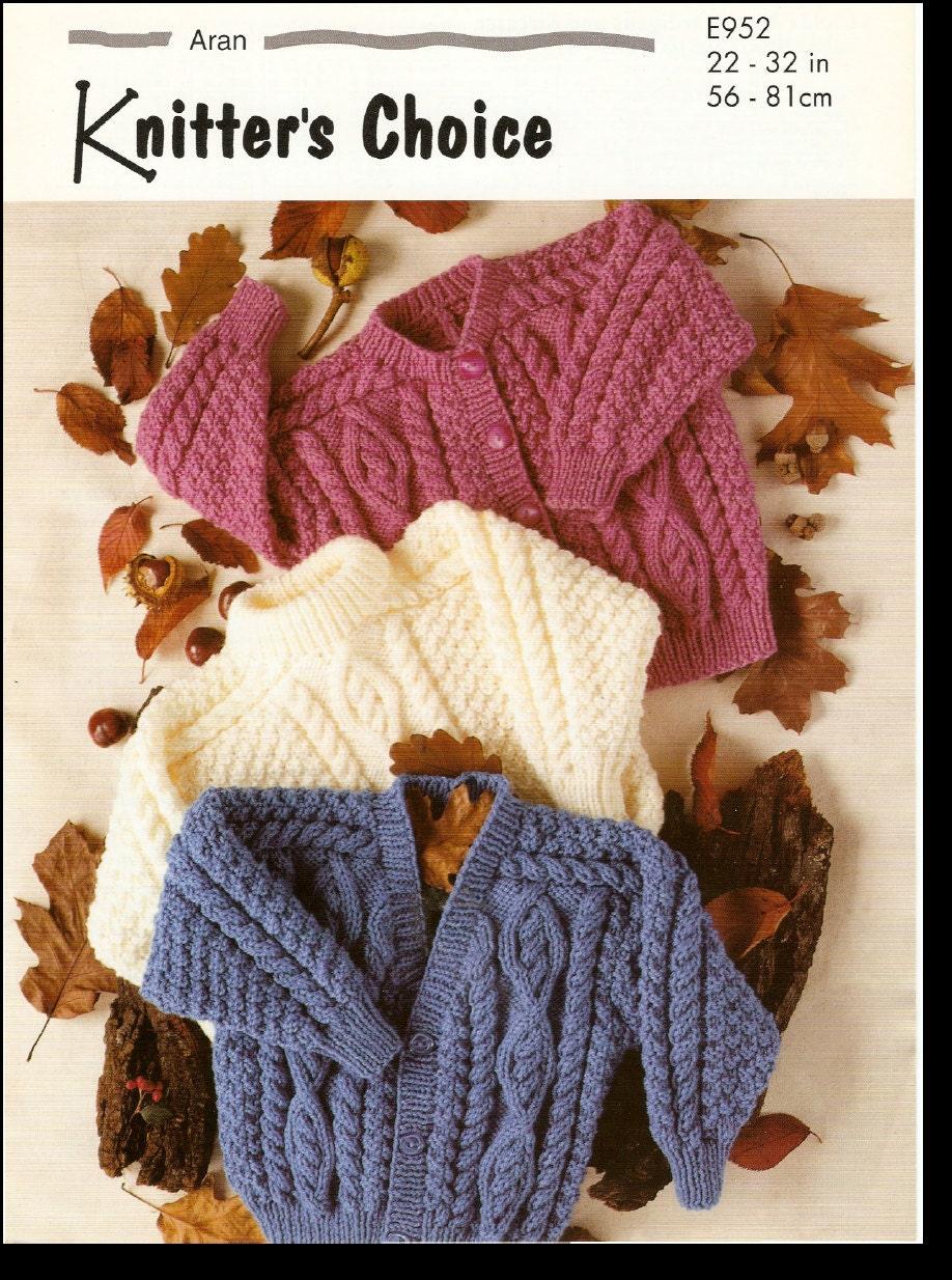 Vintage Baby Cardigan Knitting Pattern : Vintage PDF BABY Knitting Pattern E952 by AlwaysKnitting2