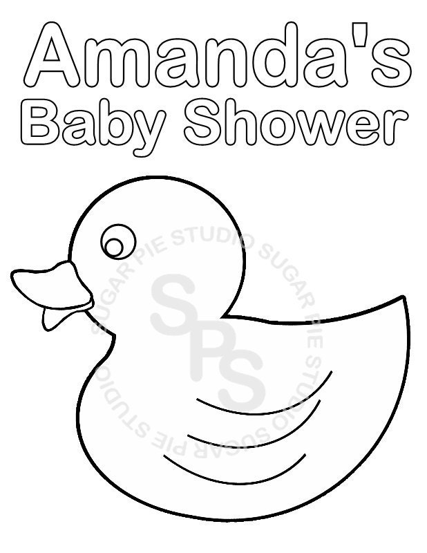 Personalized Printable Baby Shower Favor By Sugarpiestudio Baby Shower Coloring Pages