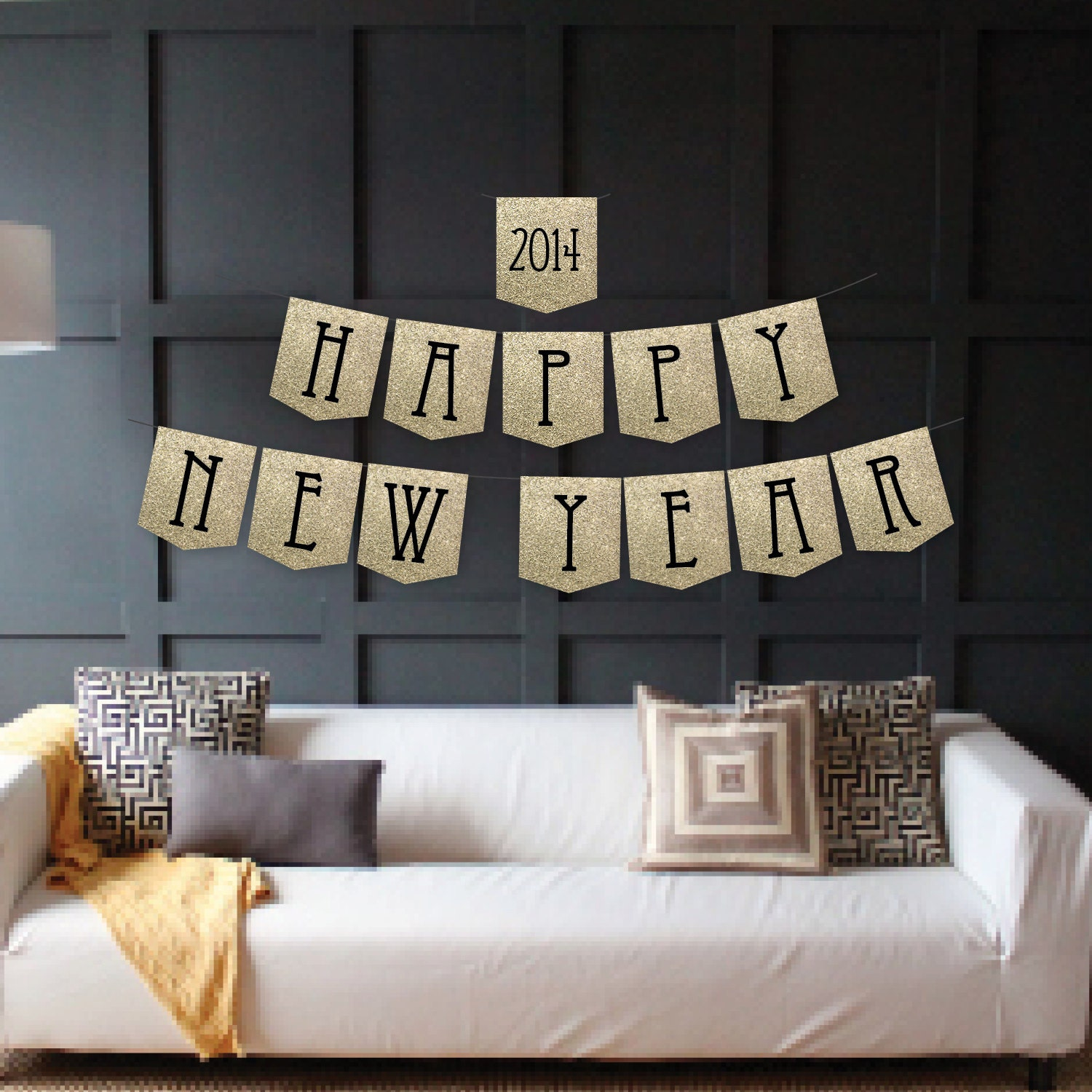 Instant Download - Happy New Year Banner - Bonne Année Banner - New Year's Eve Banner - New Year's Banner - DIY Printable Banner - CreativeUnionDesign