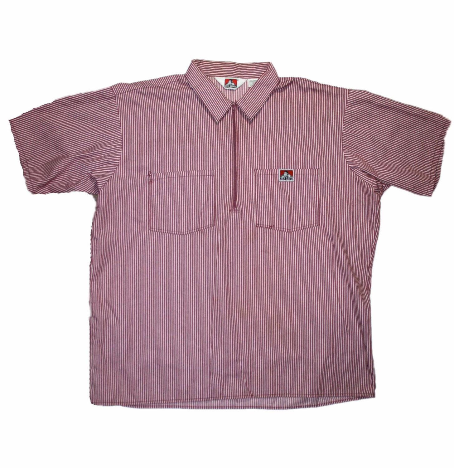 Vintage 90s ben davis work shirt made in usa by for Usa made work shirts