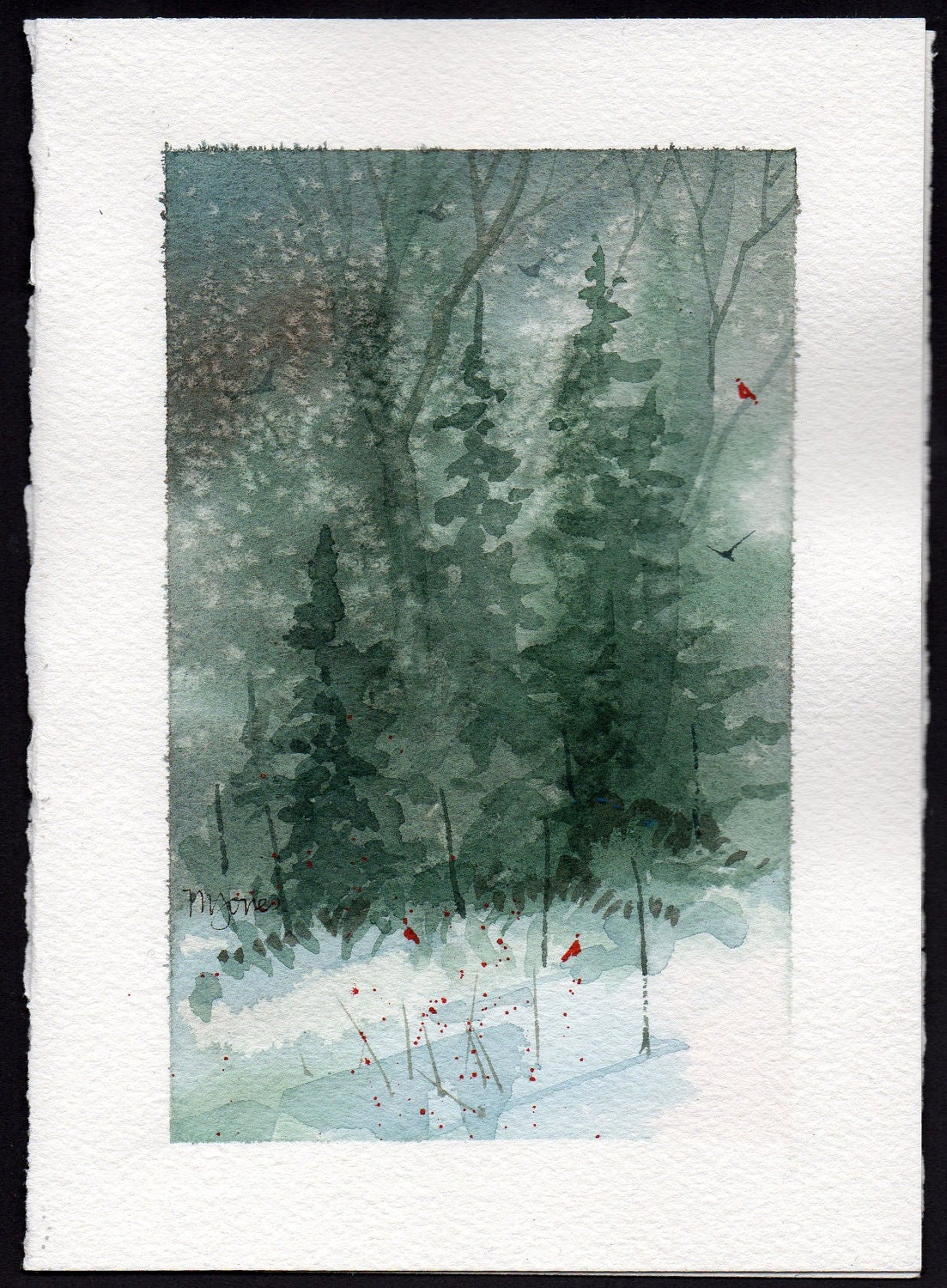 Hand Painted Snow Tutorial