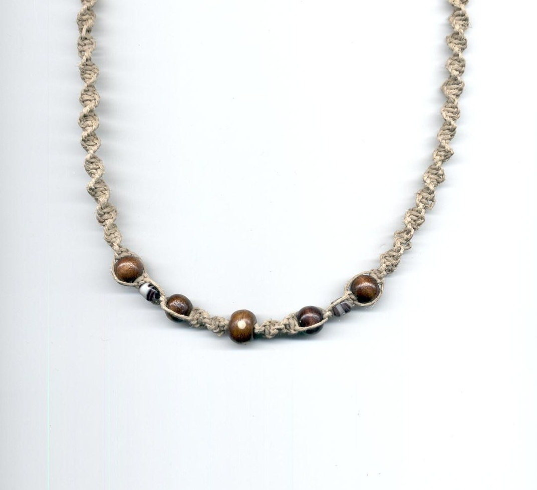 hemp necklace n7 by toxicdaisy on etsy