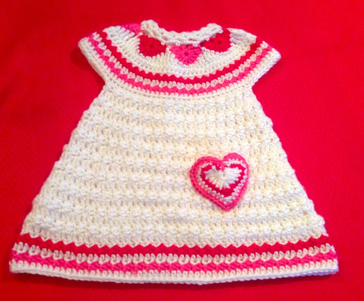 Crochet Pattern for Baby Toddler Jumper Dress, Hearts of Love, PDF 12 ...