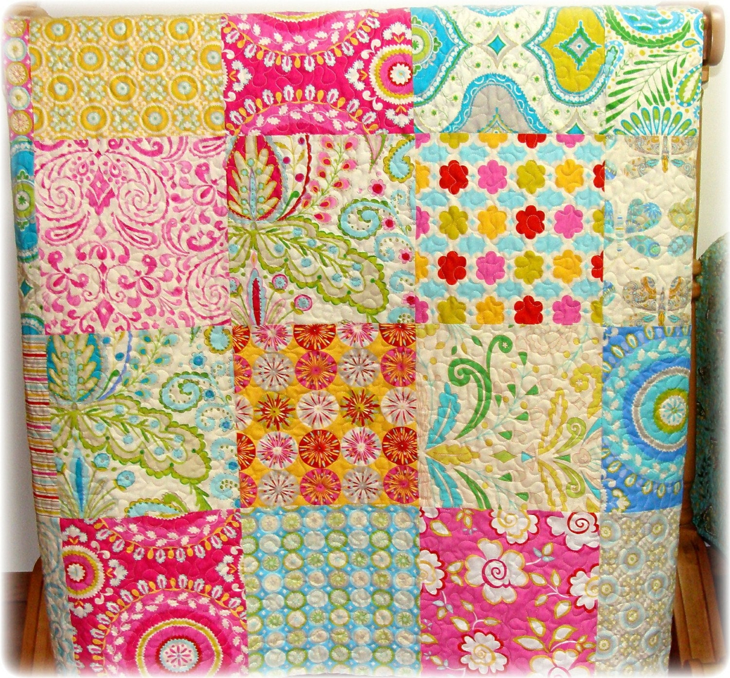 Kumari garden picnic quilt by carlenewestberg on etsy for Kumari garden fabric by dena designs