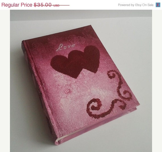 CHRISTMAS SALE CHRISTMAS Sale Love hearts romantic photo album gift valentines christmas - MKedraDecoupage
