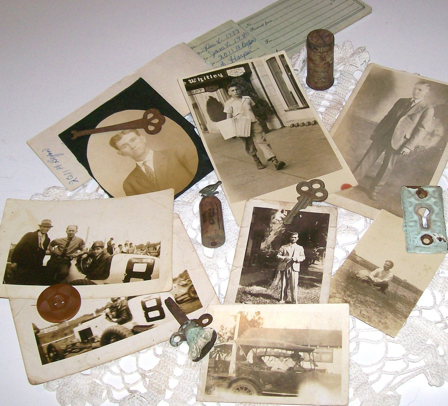 When I grow Up I want to Marry a Banker, Lawyer, Doctor, Race Car Driver or G.I. Joe   Antique photos of men Set of 8