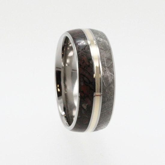 handmade spark jewelrybyjohan meteorite ring dinosaur