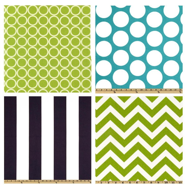 Crib bedding turquoise lime green and navy blue by - Navy blue and green bedding ...