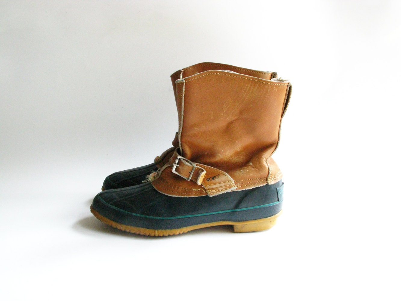 vintage s sporto duck boots leather by