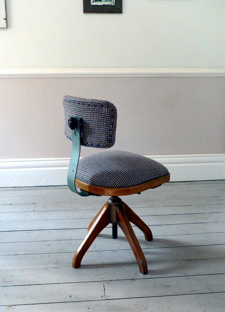 1930s Architects Desk Chair  Office Chair
