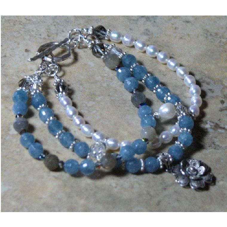 Kyanite Bracelet, Plus Size Bracelet