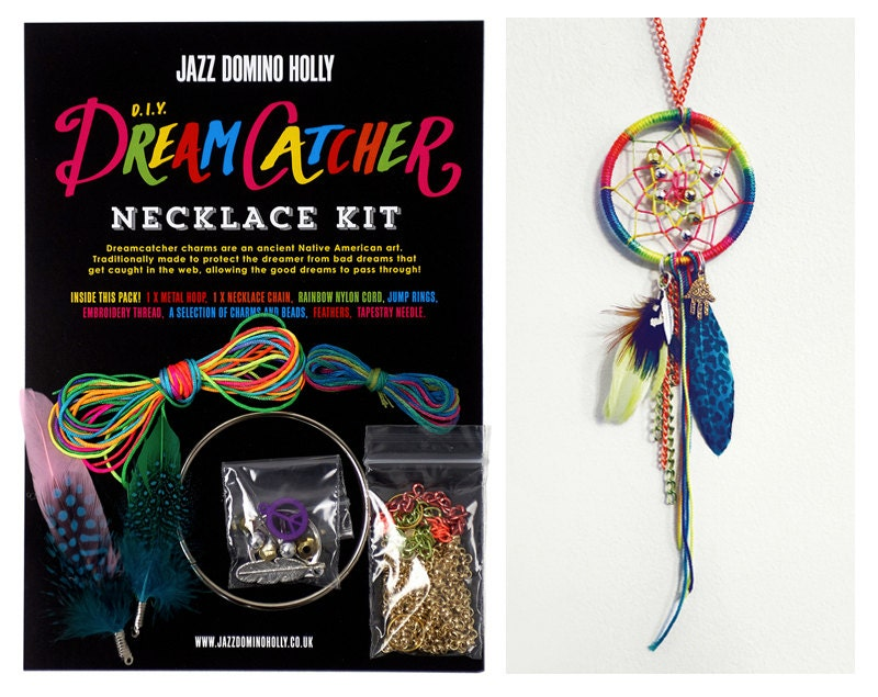 Dream catcher necklace diy