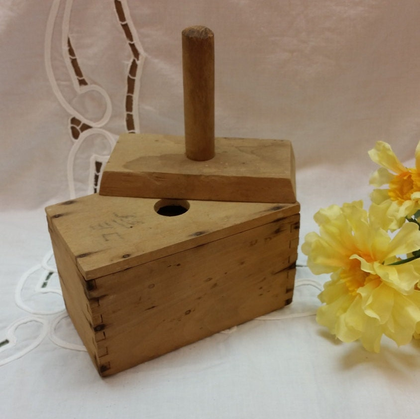 From Musty To Must See Kitchen: Antique Rustic Wooden Butter Press Butter Mold By AmazingFun