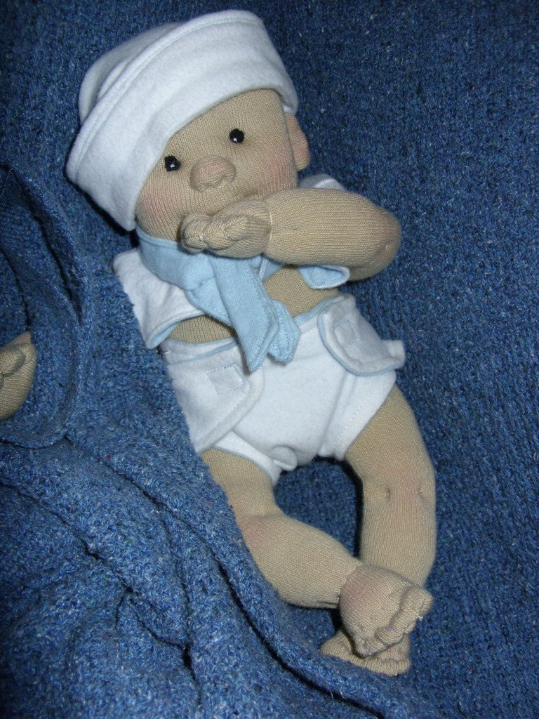 Soft Needle Sculptured Sock Baby Doll Custom Boy Girl By