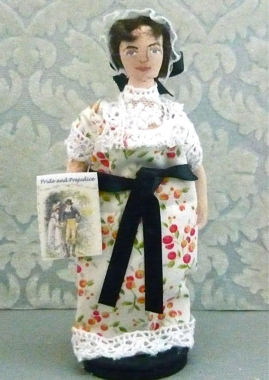 Jane Austen Miniature Doll Art Collectible Historical Regency Era Collectible