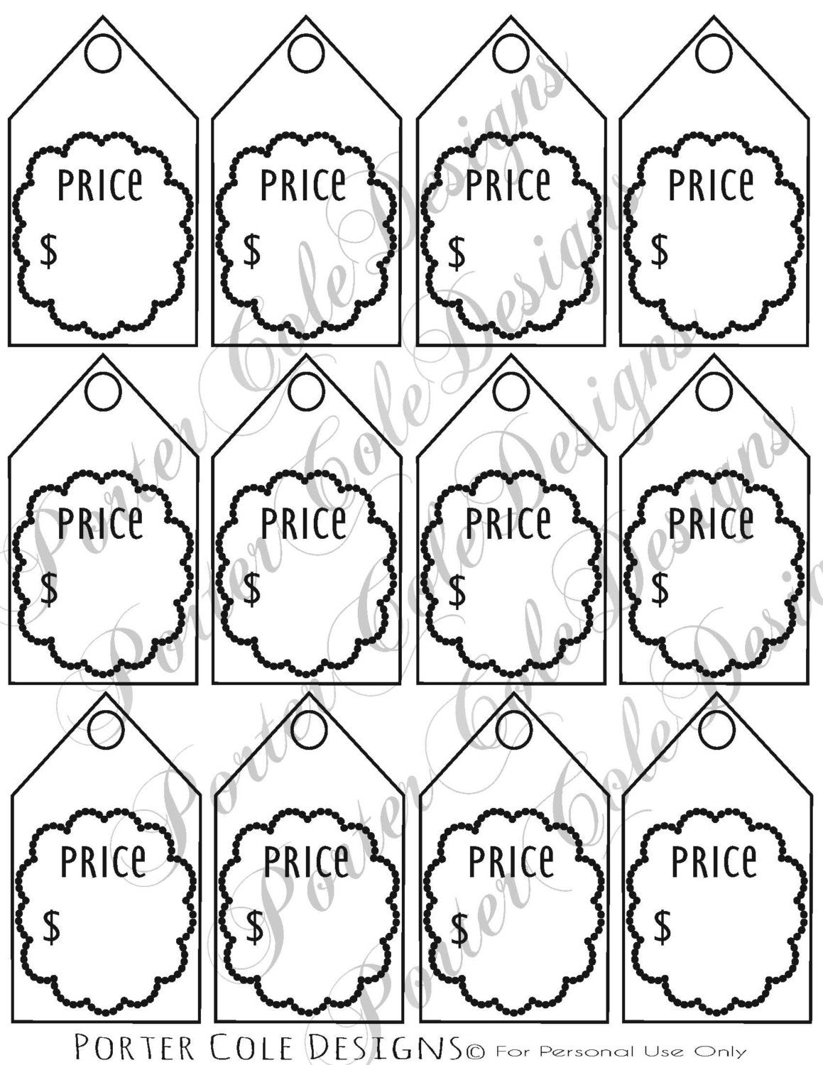 It is a photo of Dramatic Free Printable Price Tags