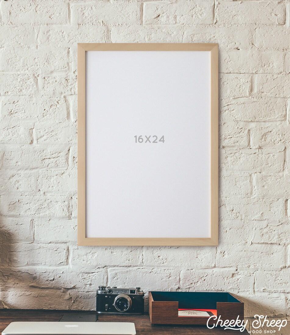 Wood poster frame