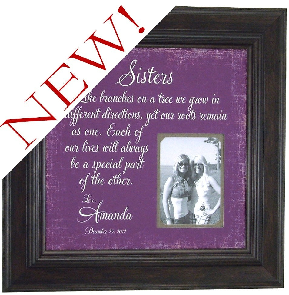Wedding Thank You Gift For Sister : Personalized Photo Frame for Sister Best by PhotoFrameOriginals